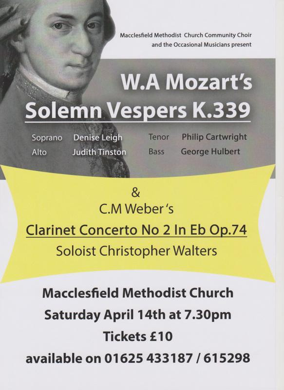 Mozart/Weber Concert 14th April