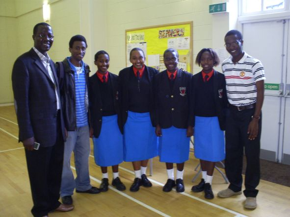 Girls from Starehe during their visit to Macclesfield